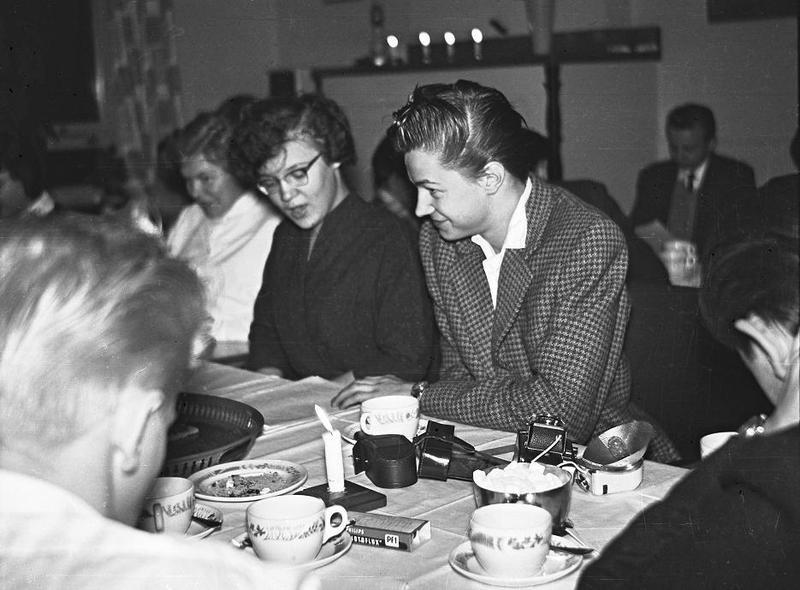 Kerstin Wallin och Sune Nordgren 1958.