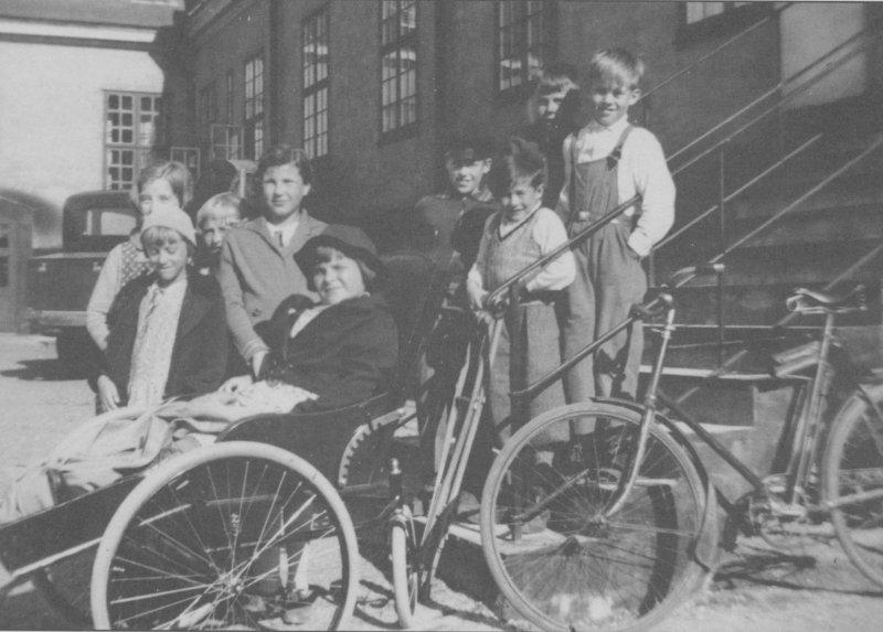 Trappan till skolhemmet slutet av 1930-talet